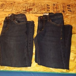 2 pair of Boys size 5 levi's